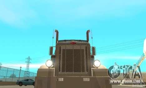 Peterbilt 379 Custom And Tanker Trailer pour GTA San Andreas vue de côté