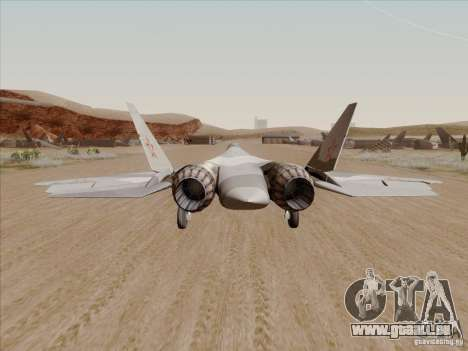 T-50 Pak Fa pour GTA San Andreas sur la vue arrière gauche