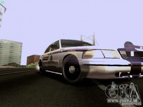 Ford Crown Victoria Canadian Mounted Police pour GTA San Andreas vue arrière