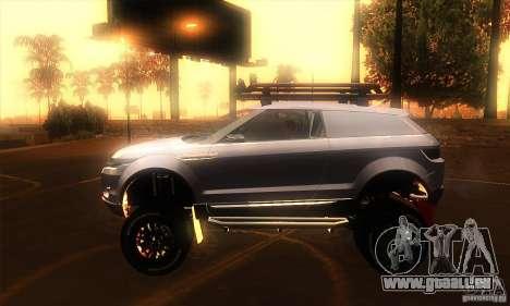 Land Rover Evoque für GTA San Andreas linke Ansicht
