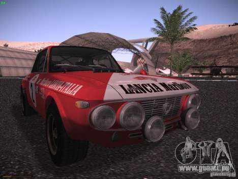 Lancia Fulvia Rally Marlboro für GTA San Andreas linke Ansicht
