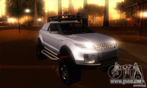 Land Rover Evoque für GTA San Andreas Rückansicht
