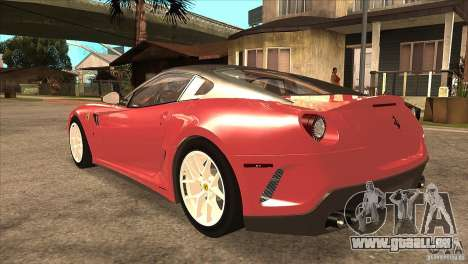 Ferrari 599 GTO 2010 V1.0 für GTA San Andreas zurück linke Ansicht