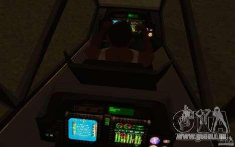 Sikorsky RAH-66 Comanche Camo pour GTA San Andreas vue arrière