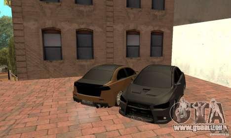 Mitsubishi Lancer Evolution Dag Style pour GTA San Andreas vue de droite