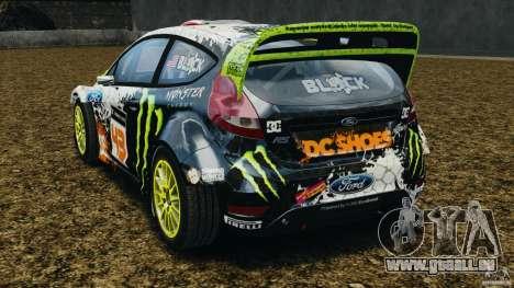 Ford Fiesta RS WRC Gymkhana v1.0 pour GTA 4 Vue arrière de la gauche