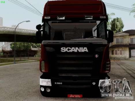 Scania R580 V8 Topline pour GTA San Andreas laissé vue