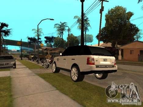 Range Rover Sport für GTA San Andreas Rückansicht