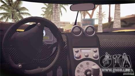 Koenigsegg CCX 2006 v2.0.0 pour GTA San Andreas moteur