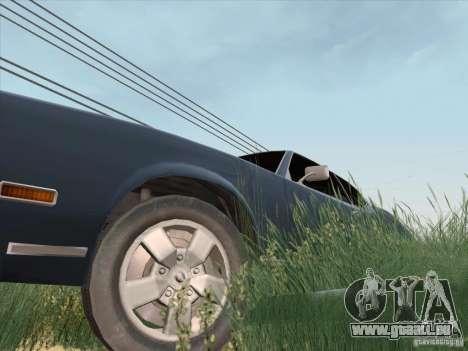 Sabre HD pour GTA San Andreas vue de droite