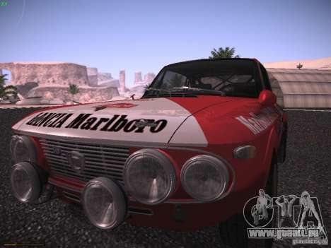 Lancia Fulvia Rally Marlboro für GTA San Andreas zurück linke Ansicht