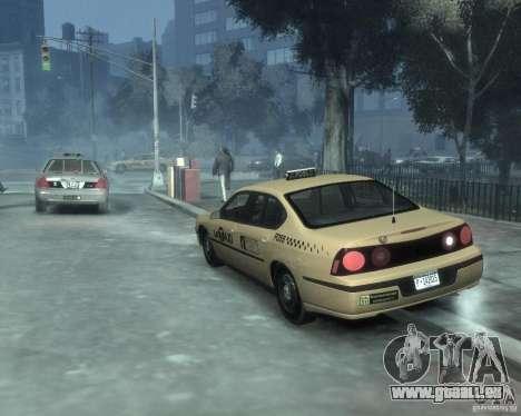 Chevrolet Impala 2003 Taxi pour GTA 4 Vue arrière