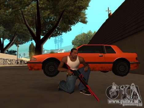 Red Chrome Weapon Pack für GTA San Andreas neunten Screenshot