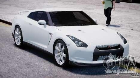 Nissan Skyline GT-R R35 für GTA 4 Rückansicht