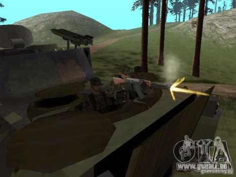M2A3 Bradley pour GTA San Andreas vue intérieure