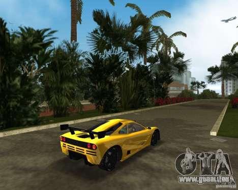 McLaren F1 LM pour GTA Vice City sur la vue arrière gauche