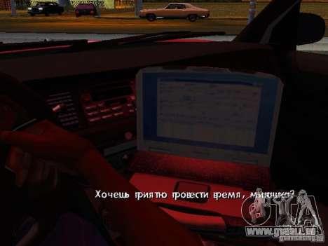 Ford Crown Victoria Police Patrol für GTA San Andreas obere Ansicht