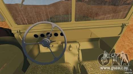 Dodge WC-62 3 Truck pour GTA 4 Vue arrière