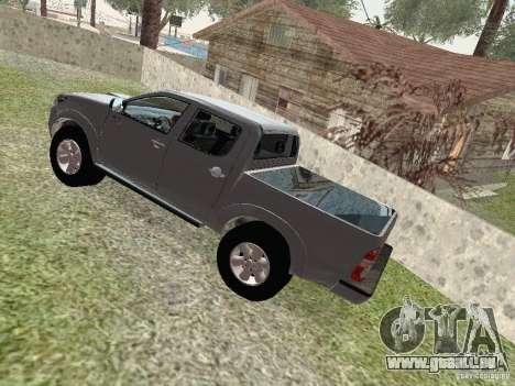 Toyota Hilux für GTA San Andreas Rückansicht