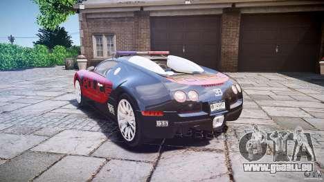 Bugatti Veyron 16.4 Police [EPM/ELS] pour GTA 4 Vue arrière de la gauche