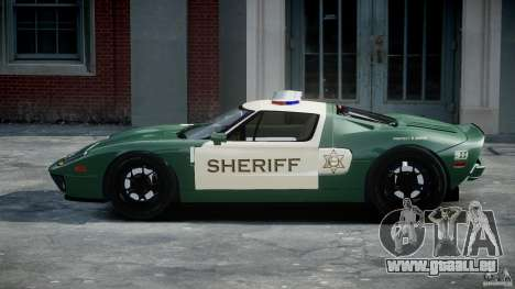 Ford GT1000 Hennessey Police 2006 [EPM][ELS] pour GTA 4 est une vue de l'intérieur