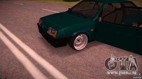 VAZ 2108 niedrige Classic für GTA San Andreas Rückansicht