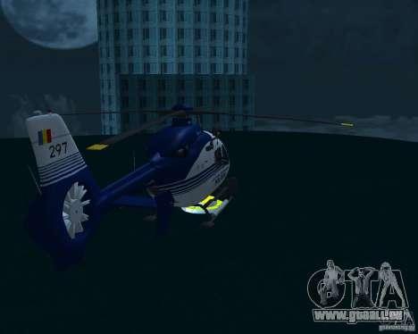 EC-135 Gendarmerie Police pour GTA San Andreas laissé vue