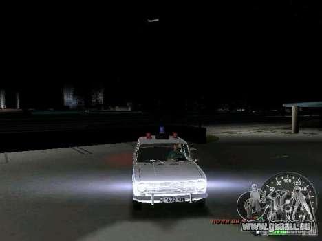 VAZ 2101 Police pour une vue GTA Vice City d'en haut