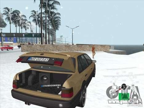 Volkswagen Passat B3 für GTA San Andreas obere Ansicht