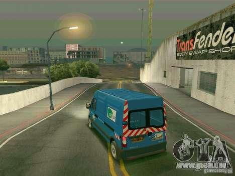 Renault Master pour GTA San Andreas sur la vue arrière gauche