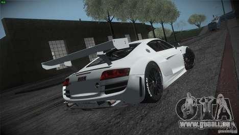 Audi R8 LMS für GTA San Andreas Rückansicht