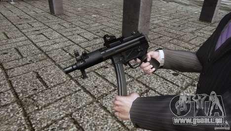 H&K MP5k für GTA 4 Sekunden Bildschirm