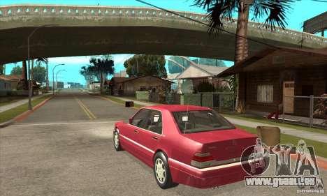 Mercedes-Benz S600 1999 pour GTA San Andreas vue de droite