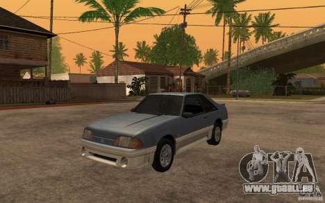 Ford Mustang GT 5.0 1993 pour GTA San Andreas laissé vue