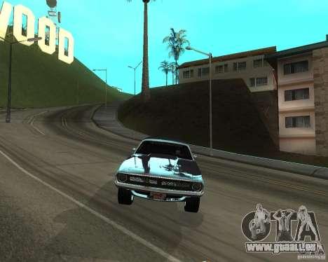 1970 Plymouth Baracuda pour GTA San Andreas sur la vue arrière gauche
