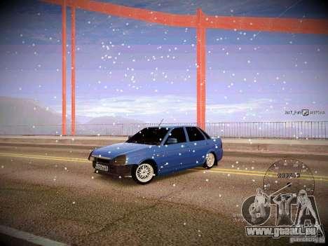 Lada Priora Turbo v2.0 pour GTA San Andreas sur la vue arrière gauche