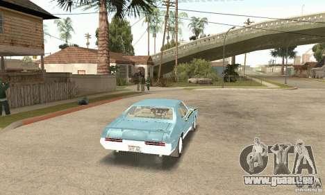Pontiac GTO The Judge pour GTA San Andreas laissé vue