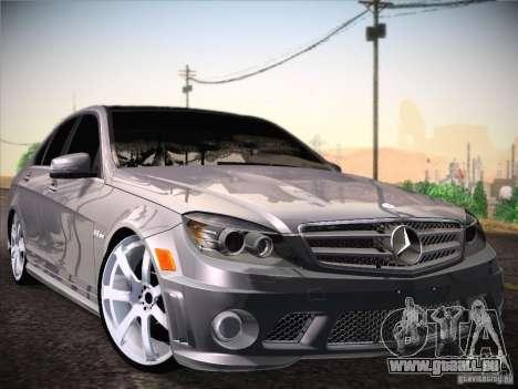 Mercedes-Benz S63 AMG pour GTA San Andreas sur la vue arrière gauche