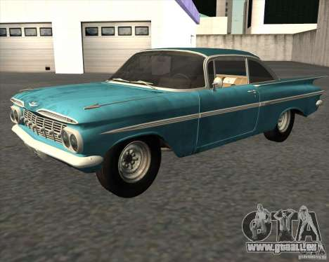 Chevrolet Impala Coupe 1959 Used pour GTA San Andreas