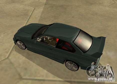 BMW E36 Coupe pour GTA San Andreas laissé vue