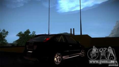 Ford Focus 2 Coupe pour GTA San Andreas vue arrière
