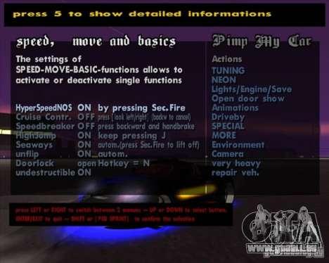 Pimp my Car Final pour GTA San Andreas quatrième écran