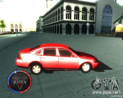 Chevrolet Impala 2008 pour GTA San Andreas laissé vue