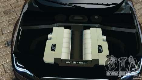 Audi A8 Limo v1.2 pour GTA 4 vue de dessus