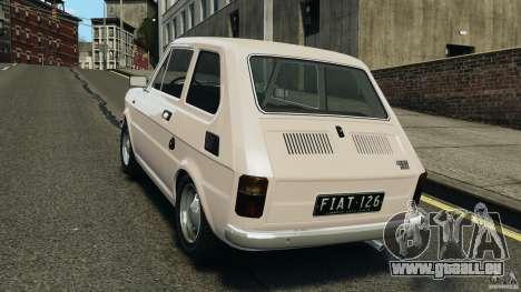 Fiat 126 Classic pour GTA 4 Vue arrière de la gauche