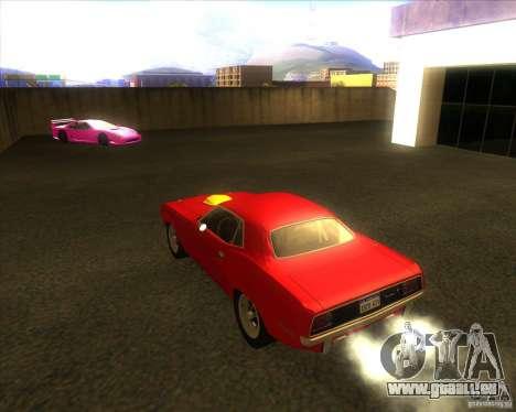 Plymouth Hemi Cuda für GTA San Andreas zurück linke Ansicht