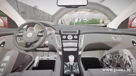 Cadillac CTS-V Coupe pour GTA 4 Vue arrière
