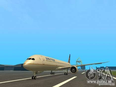 Boeing 787 Dreamliner United Airlines für GTA San Andreas