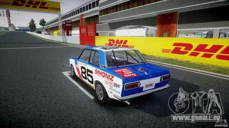 Datsun Bluebird 510 1971 BRE für GTA 4 hinten links Ansicht