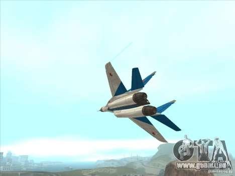 MiG-29 les martinets pour GTA San Andreas vue intérieure
